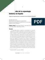 Dialnet-ElDesarrolloDeLaArqueologiaHistoricaEnEspana-3855716