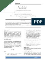 informe de laboratorio ley de coulomb