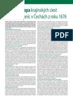 Stichova mapa krajinských ciest a colných staníc v Čechách z roku 1676 (Colné aktuality č. 11 - 12/2010)