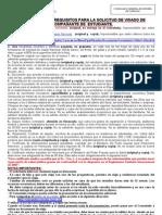 instrucciones y requisitos para visado acompañante de estudiante