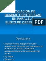 ASOCIACIÓN DE BOMBAS CENTRIFUGAS EN PARALELO