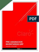 Proceso Pre-asignación inventarios GRF