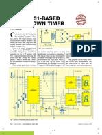 AT89C2051-based Countdown Timer