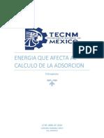 energia que afecta al calculo de la adsorcion