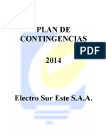 PLAN DE CONTINGENCIAS. Electro Sur Este
