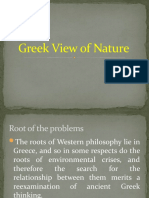 Greek View of Nature