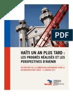 CIRH - Haïti un an plus tard - 12 janvier 2011 (FR)