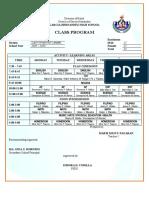 Class Program 2018-2019