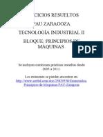 PAU Zaragoza Tecnología Industrial II. Ejercicios Resueltos PrincipiosMaquinas Desde2005
