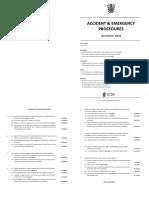 Accident & Emergency Procedures(2)
