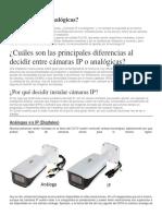 Cámaras IP o analógicas
