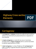 Highway Cross section Elements