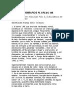 COMENTARIOS AL SALMO 148