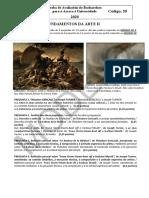 Examen de Selectividad 2020 50 Fundamentos Da Arte