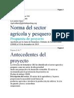 Norma del sector agrícola y pesquero - Propuesta del Proyecto.docx
