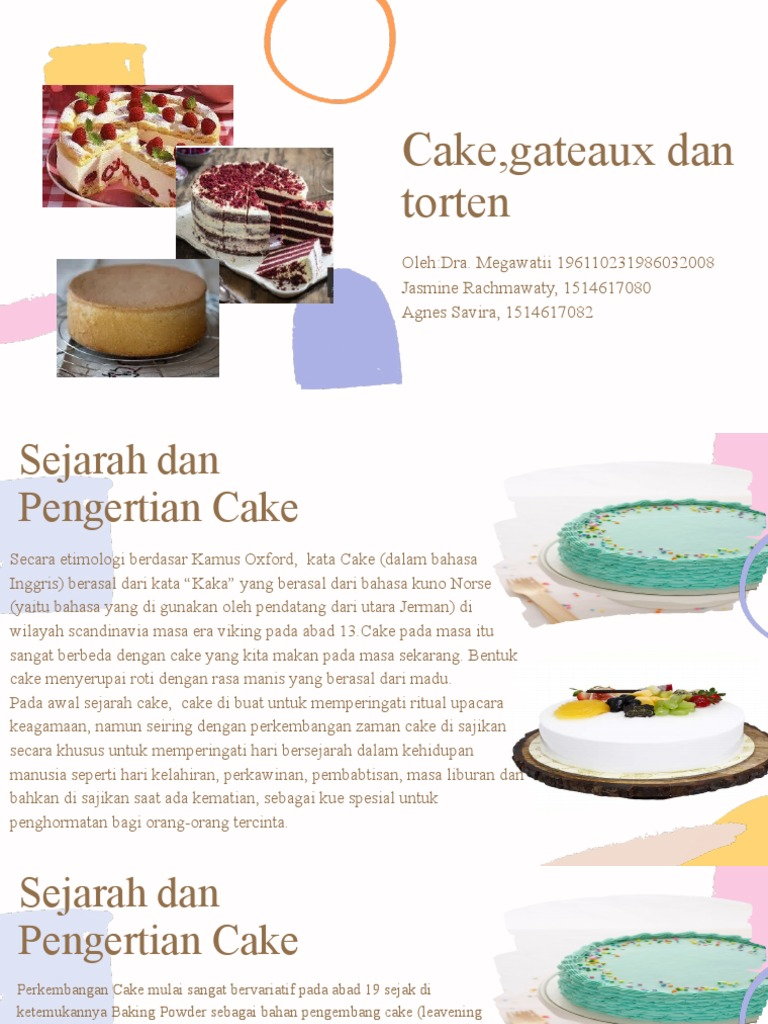 Ppt Cake Gateaux Dan Torte Copy Pptx