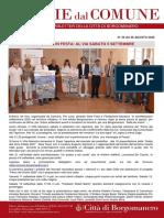 Notizie Dal Comune di Borgomanero del 28-08-2020