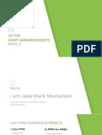 AFAR Joint Arrangement