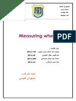 report of measuring wheel
