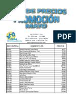 LISTA DE PRECIOS PROMOCION MAYO