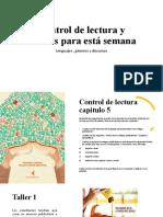 Control de lectura y talleres semana 2 lenguajes generos y texturas.pptx