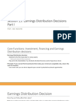Earnings Distribution Decisions