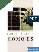 Como Es - Samuel Beckett