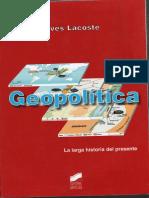INTRODUCCION A LA GEOPOLITICA - lacoste