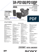 SONY DSR-PD100, PD100P SERVICE MANUAL VER 1.5 2003.05 (9-974-114-16)