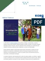 Medicina Tradicional _ INSTITUTO NACIONAL DE SALUD PERÚ