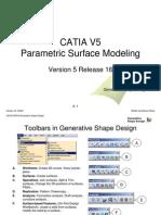 CATIA-V5 Parametric surface modeling