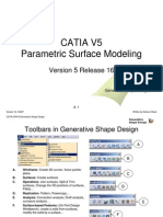 CATIA-V5 Parametric surface modeling