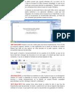 1999 Word 2000 Fue la última versión que soportó Windows 95 y se lanzó con 23 herramientas nuevas