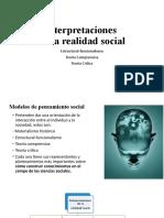 2. Estructural funcionalismo Teoría Comprensiva y Crítica