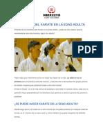 10 BENEFICIOS DEL KARATE EN LA ADULTEZ