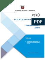Resultados Definitivos de la Población Económicamente Activa 2017 Perú 02