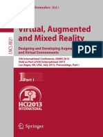 Virtual Augmented and Mixed Reality