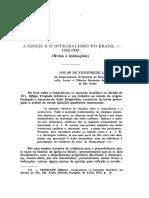 LUSTOSA, Oscar de Figueiredo. A Igreja e o Integralismo no Br.