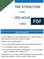 Diskretne Strukture - Relacije - I Deo