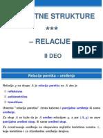 Diskretne Strukture - Relacije - II Deo