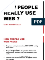 How People Really Use Web