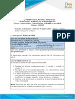 Guia de actividades y Rúbrica de evaluación - Tarea 1 - Teoría de los Indicadores en Salud