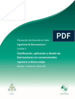 Planeación didáctica Unidad 3 Biorreactores