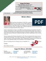 Kappa Phi News September 2020b