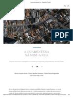 A quarentena na minha rua - Infográficos - Estadão