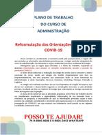 ADMINISTRAÇÃO Reformulação Das Orientações de Estágio COVID-19