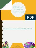 CIENCIA Y METODO CIENTIFICO 19 AGOSTO