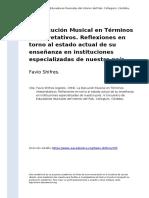 Favio Shifres (1994). La Ejecucion Musical en Terminos Interpretativos. Reflexiones en torno al estado actual de su ensenanza en instituc (..)