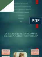 LA INFLUENCIA DE LOS FILÓSOFOS GRIEGOS  PLATÓN Y ARISTÓTELES.pptx