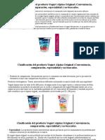 Clasificación del producto Yogurt Alpina Original (Conveniencia